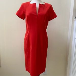 Carlisle Red Fitted Dress Sz 4